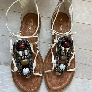 Nine West - tribal themed summer shoes - worn once